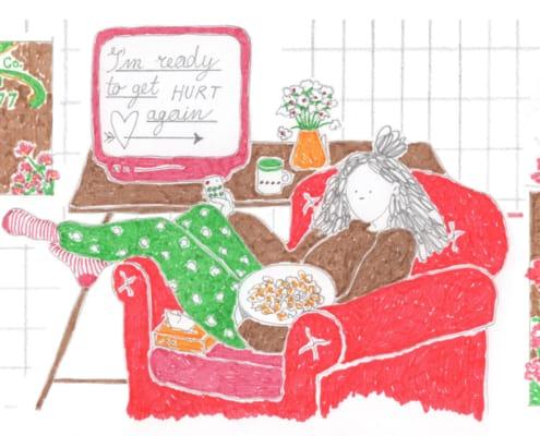 Illustrazione di Valeria Santamaria per Senza rossetto