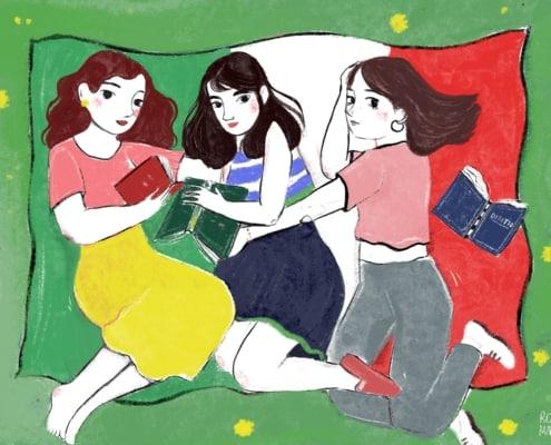 Illustrazione di Rosa Maria Di Molfetta per Senza rossetto