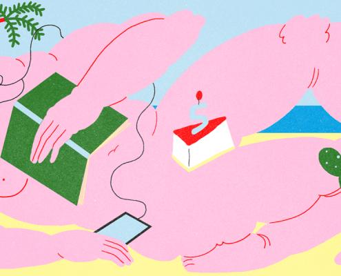 Illustrazione di Giulia Lineette per Senza rossetto